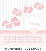Gentle Baby Girl Footstep Card