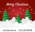 merry christmas and christmas... | Shutterstock .eps vector #1211393098