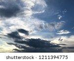 sunset and beautiful nature.... | Shutterstock . vector #1211394775