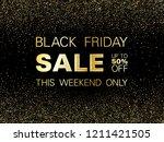 black friday sale gold glitter...   Shutterstock .eps vector #1211421505