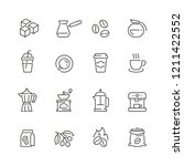 coffee related icons  thin... | Shutterstock .eps vector #1211422552