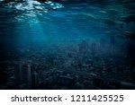 bangkok underwater  global... | Shutterstock . vector #1211425525