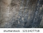 touristic qobustan with... | Shutterstock . vector #1211427718