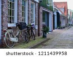 beautiful cobbled street in... | Shutterstock . vector #1211439958
