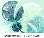 Green Leafy Flower Or Butterfl...