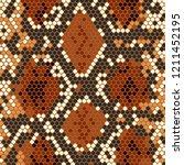 snake skin. vector stock... | Shutterstock .eps vector #1211452195