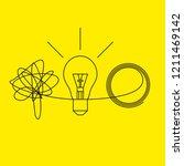 metaphor solution to business... | Shutterstock .eps vector #1211469142