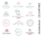 collection of vector logo... | Shutterstock .eps vector #1211487682