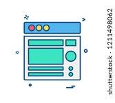 web layouts icon design vector | Shutterstock .eps vector #1211498062