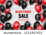 black friday sale poster with... | Shutterstock .eps vector #1211507422