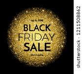 black friday sale banner. black ... | Shutterstock .eps vector #1211508862