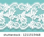 white lace vector detailed... | Shutterstock .eps vector #1211515468