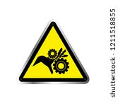 warning moving parts symbol ... | Shutterstock .eps vector #1211518855
