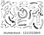 set of arrow and pointer.... | Shutterstock .eps vector #1211522845