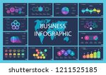 set of sales or production... | Shutterstock .eps vector #1211525185