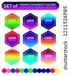 vector logo design elements set ... | Shutterstock .eps vector #1211526985