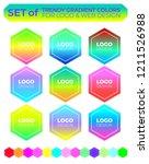 vector logo design elements set ... | Shutterstock .eps vector #1211526988