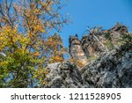 hiking in bohemian switzerland... | Shutterstock . vector #1211528905