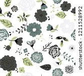 seamless floral pattern.... | Shutterstock .eps vector #1211528992