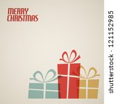 retro christmas card with... | Shutterstock .eps vector #121152985