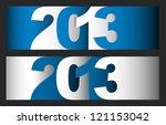 original vector new year 2013... | Shutterstock .eps vector #121153042