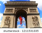 the triumphal arch of the star... | Shutterstock . vector #1211531335