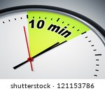 an illustration of a clock with ... | Shutterstock . vector #121153786