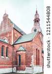corner of the riga cathedral in ... | Shutterstock . vector #1211544808