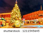 lonely streets in the old town... | Shutterstock . vector #1211545645