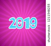 2019 happy new year greeting... | Shutterstock .eps vector #1211548255