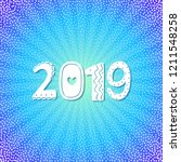 2019 happy new year greeting... | Shutterstock .eps vector #1211548258