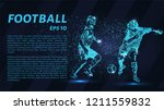 football players fighting for... | Shutterstock .eps vector #1211559832