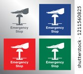 emergency stop push button... | Shutterstock .eps vector #1211560825