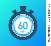 the 60 minutes  stopwatch...   Shutterstock .eps vector #1211566432