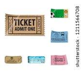 vector design of ticket and... | Shutterstock .eps vector #1211566708
