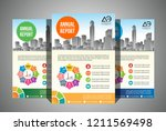 set of a4 size annual report... | Shutterstock .eps vector #1211569498