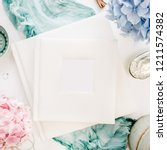 family wedding photo album ...   Shutterstock . vector #1211574382