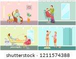 barber shop for men beards and... | Shutterstock .eps vector #1211574388