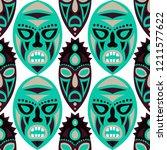 seamless pattern. african... | Shutterstock .eps vector #1211577622