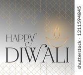 happy diwali vector wallpaper... | Shutterstock .eps vector #1211594845