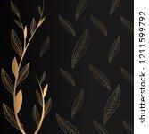 royal golden leaves vector...   Shutterstock .eps vector #1211599792