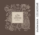 background with super food ... | Shutterstock .eps vector #1211620168