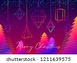 happy new year banner design... | Shutterstock .eps vector #1211639575