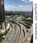 roads interlink on a highway | Shutterstock . vector #1211647015