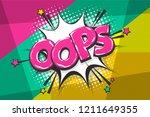 omg ouch oops comic text speech ...   Shutterstock .eps vector #1211649355