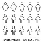 weightloss icon for healthy... | Shutterstock .eps vector #1211652448