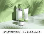 cosmetic bottle set for liquid  ... | Shutterstock . vector #1211656615