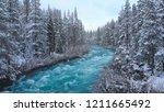 aerial  whitewater rapids rush... | Shutterstock . vector #1211665492