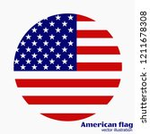 bright background with flag of... | Shutterstock .eps vector #1211678308