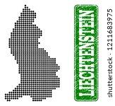 dotted map of liechtenstein and ... | Shutterstock .eps vector #1211683975